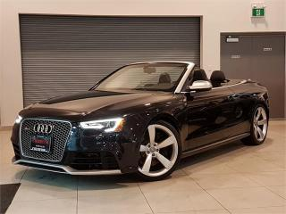 Used 2013 Audi RS5 CONVERTIBLE-AUTO-NAVIGATION-FULLY LOADED-ONLY 39KM for sale in York, ON