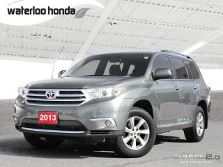Used 2013 Toyota Highlander Base 7 Passenger, Automatic, A/C and More! for sale in Waterloo, ON