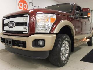 Used 2012 Ford F-250 Lariat King Ranch, beautiful heated/cooled power leather seats topped with a beautiful two tone paint job for sale in Edmonton, AB
