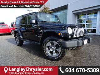 Used 2017 Jeep Wrangler Unlimited Sahara *ONE OWNER*LOCAL BC JEEP* for sale in Surrey, BC