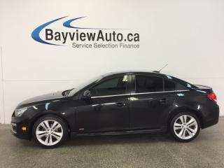 Used 2015 Chevrolet Cruze RS- TURBO|REM STRT|ROOF|HTD LTHR|NAV|PIONEER! for sale in Belleville, ON