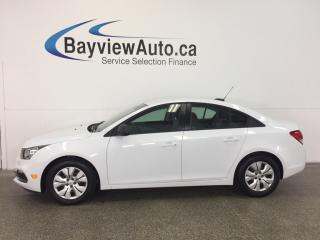 Used 2015 Chevrolet Cruze LS- 6 SPEED|1.8L||ON STAR|LOW KM'S| for sale in Belleville, ON