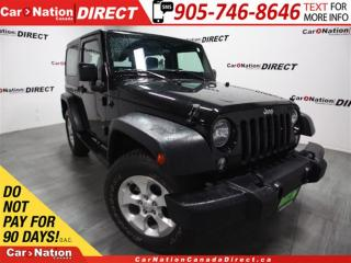 Used 2016 Jeep Wrangler Sport| 4X4| LOW KM'S| HARD TOP| for sale in Burlington, ON