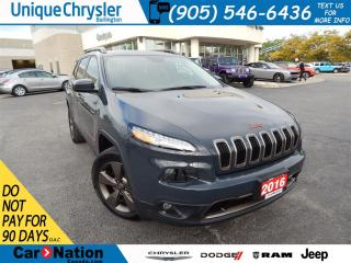 Used 2016 Jeep Cherokee North|PANORAMIC ROOF|LEATHER|IN SEAT STORAGE| for sale in Burlington, ON