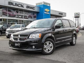 Used 2017 Dodge Grand Caravan CREW, STOW & GO, CRUISE REAR A/C for sale in Ottawa, ON
