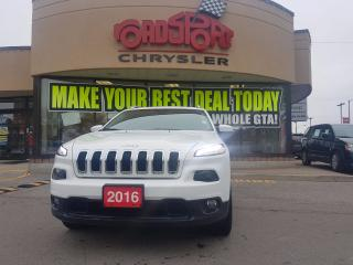 Used 2016 Jeep Cherokee North PANO ROOF LEATHER TRAILER TOW H-TED WHEEL for sale in Scarborough, ON