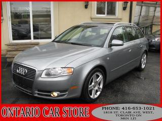 Used 2007 Audi A4 2.0 T AWD AVANT WAGON LEATHER SUNROOF for sale in Toronto, ON