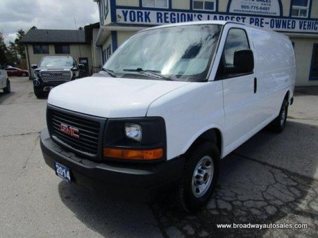 2014 GMC Savana 3/4 TON CARGO MOVING 5 PASSENGER 4.8L - V8.. REAR & SIDE BARN DOOR ENTRANCE.. EXTRA BENCH SEATING.. TOW SUPPORT.. AIR CONDITIONING..