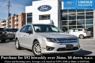 Used 2010 Ford Fusion S for sale in Ottawa, ON