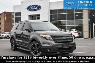Used 2015 Ford Explorer Sport 4WD for sale in Ottawa, ON