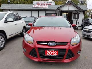 Used 2012 Ford Focus Titanium NO ACCIDENTS NAVI LEATHER SUNROOF ONT CAR for sale in Brampton, ON