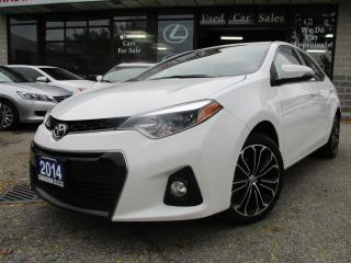 Used 2014 Toyota Corolla S-S-SUNROOF-CAMERA-ALLOYS-HEATED-BLUE-TOOTH for sale in Scarborough, ON