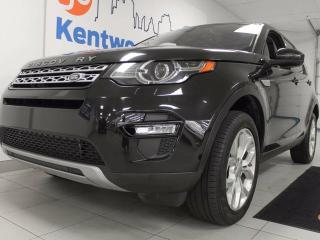 Used 2016 Land Rover Discovery Sport Stay warm with our Discovery Sport with NAV, huge sunroof, power leather heated seats with a heated steering wheel for sale in Edmonton, AB