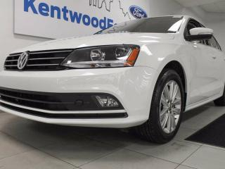Used 2017 Volkswagen Jetta Wolfsburg Edition with power heated seats, sunroof, back up cam and push start! for sale in Edmonton, AB