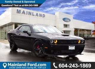Used 2017 Dodge Challenger SRT Hellcat 707 HP, LOW KMS, LOCAL, NO ACCIDENTS for sale in Surrey, BC