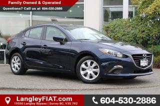Used 2016 Mazda MAZDA3 GX NO ACCIDENTS, B.C OWNED for sale in Surrey, BC