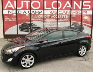 Used 2013 Hyundai Elantra Limited LIMITED-0% DOWN ALL CREDIT ACCEPTED for sale in Scarborough, ON