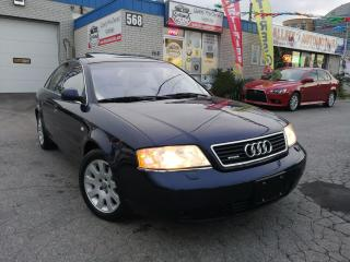 Used 1998 Audi A6 Accident Free_Sunroof_Leather_Quattro for sale in Oakville, ON