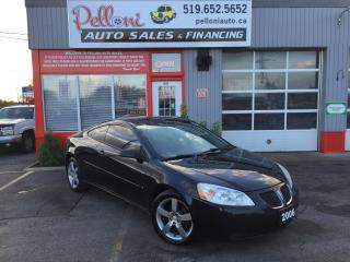 Used 2006 Pontiac G6 GTP LEATHER|SUNROOF|BLACK ON BLACK for sale in London, ON
