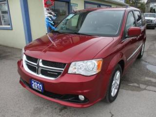 Used 2011 Dodge Grand Caravan FAMILY MOVING 'CREW - EDITION' 7 PASSENGER 3.6L - V6.. CAPTAINS.. STOW-N-GO.. REAR DVD.. CD/AUX INPUT.. ECON-BOOST.. for sale in Bradford, ON