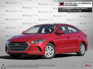 Used 2017 Hyundai Elantra for sale in Nepean, ON