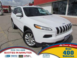 Used 2015 Jeep Cherokee 4WD for sale in London, ON