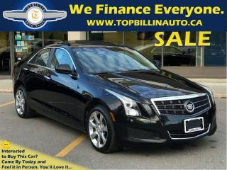 Used 2013 Cadillac ATS 2.0L Turbo, SUNROOF, LEATHER, Only 62K kms for sale in Concord, ON