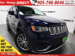 Used 2017 Jeep Grand Cherokee Summit| LAGUNA LEATHER| DVD| OVER $78,000 NEW| for sale in Burlington, ON