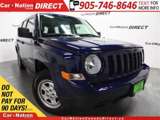 Used 2017 Jeep Patriot Sport| 4X4| WE WANT YOUR TRADE| OPEN SUNDAYS| for sale in Burlington, ON