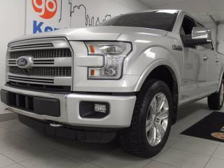 Used 2016 Ford F-150 Platinum 3.5L V6 ecoboost with NAV, sunroof, heated/cooled power leather seats, and 360 degree exterior camera view for sale in Edmonton, AB
