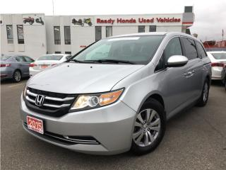 Used 2015 Honda Odyssey EX w/ Rear Entertainment System for sale in Mississauga, ON