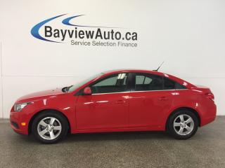 Used 2014 Chevrolet Cruze LT- TURBO|REM STRT|HTD LTHR|REV CAM|ONSTAR|CRUISE! for sale in Belleville, ON