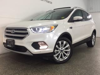 Used 2017 Ford Escape TITANIUM- 4WD|PANOROOF|HTD LTHR|BLIS|APA|NAV|SONY! for sale in Belleville, ON