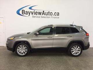 Used 2017 Jeep Cherokee LTD- 3.2L|REM STRT|HTD LTHR|NAV|REV CAM|BSA! for sale in Belleville, ON