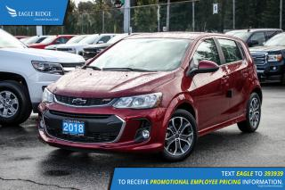 New 2018 Chevrolet Sonic LT Auto Satellite Radio and Backup Camera for sale in Port Coquitlam, BC