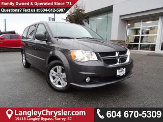 Used 2017 Dodge Grand Caravan Crew *ACCIDENT FREE*ONE OWNER*LOCAL BC VAN* for sale in Surrey, BC
