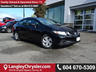 Used 2015 Honda Civic LX *ACCIDENT FREE * LOCAL BC CAR * for sale in Surrey, BC