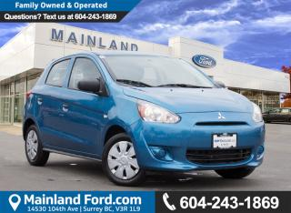 New 2015 Mitsubishi Mirage ES NO ACCIDENTS, LOW KMS for sale in Surrey, BC