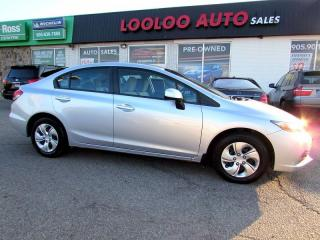 Used 2013 Honda Civic LX BLUETOOTH AUTOMATIC CETIFIED 2YR WARRANTY for sale in Milton, ON