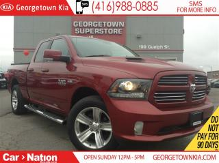 Used 2013 Dodge Ram 1500 Sport | LEATHER | 4X4 | QUAD CAB | 5.7L | for sale in Georgetown, ON