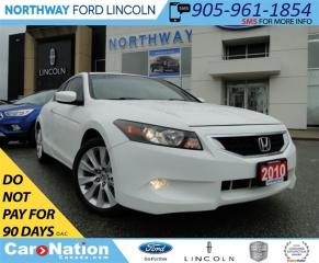 Used 2010 Honda Accord EX-L V6 | LOW KM | HEATED LEATHER | SUN ROOF | for sale in Brantford, ON