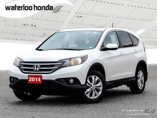 Used 2014 Honda CR-V EX-L Bluetooth, Back Up Camera, AWD, Heated Leather Seats and more! for sale in Waterloo, ON