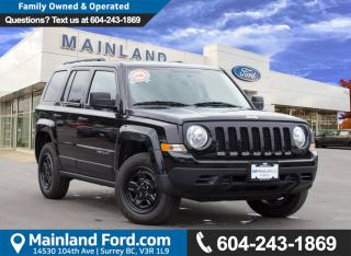 Used 2016 Jeep Patriot Sport/North LOW KMS, NO ACCIDENTS, LOCAL for sale in Surrey, BC