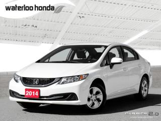 Used 2014 Honda Civic LX One Owner. Bluetooth, Automatic, A/C and More! for sale in Waterloo, ON