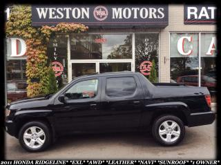 Used 2011 Honda Ridgeline EXL*AWD*LEATHER*SUNROOF*1OWNER* for sale in York, ON