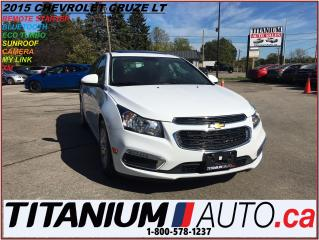 Used 2015 Chevrolet Cruze LT+Camera+Sunroof+Remote Starter+My Link+XM+BlueTo for sale in London, ON