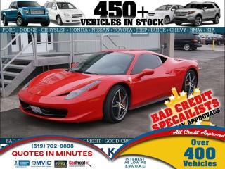 Used 2012 Ferrari 458 ITALIA 2012 FERRARI 458 OVE for sale in London, ON