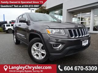 Used 2015 Jeep Grand Cherokee Laredo *ACCIDENT FREE*ONE OWNER*LOCAL BC CAR* for sale in Surrey, BC