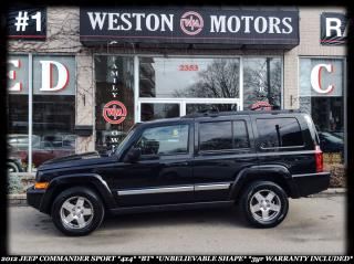 Used 2010 Jeep Commander Sport *4X4 *BLUE-T *GREAT SHAPE *3YR WARRANTY INCL for sale in York, ON