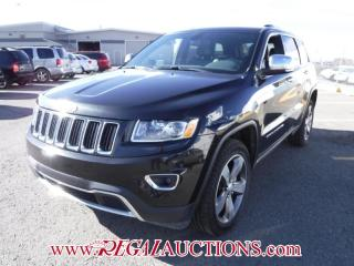 Used 2015 Jeep GRAND CHEROKEE LIMITED 4D UTILITY 4WD 3.6L for sale in Calgary, AB